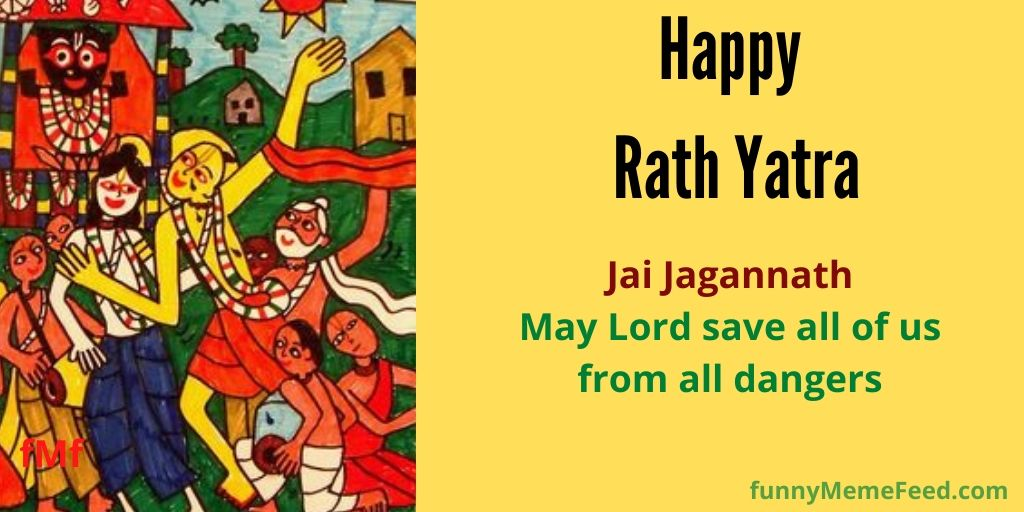 Image 8: Jai Jagannath on chariot while Sr Chaitnya Deb was immersed in 'Kirtan' | Rath Wishes - may Lord save all from all dangers